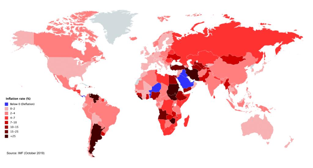 Inflation dans le monde
